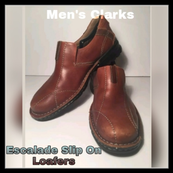 Mens Clarks Escalade Slip On Loafers